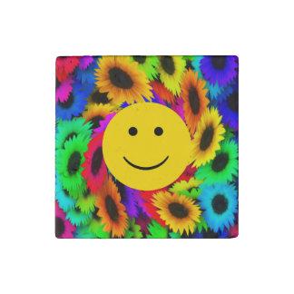 Imán de piedra fresco de Smilely