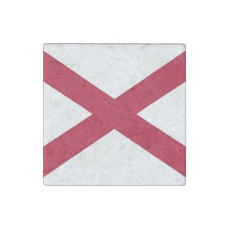 Imán de piedra patriótico con la bandera de