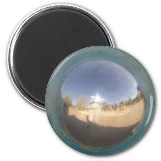 Imán de plata de la esfera