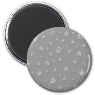 Imán de plata estrellado