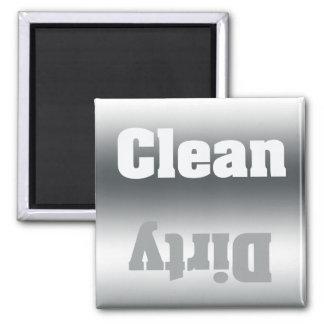 Imán de plata limpio o sucio del lavaplatos de la
