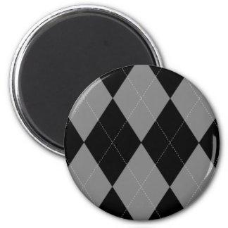 Imán de plata y negro de Argyle