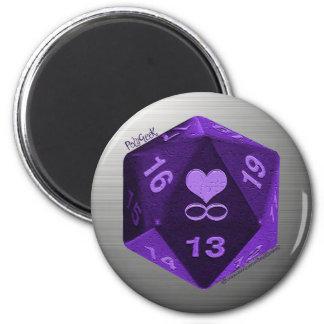 Imán de PolyGeek - púrpura
