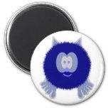 Imán de Pom Pom PAL del gato azul