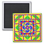 Imán de Rangoli 2 de los colores primarios