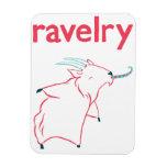 Imán de Ravelry de la cabra de cachemira