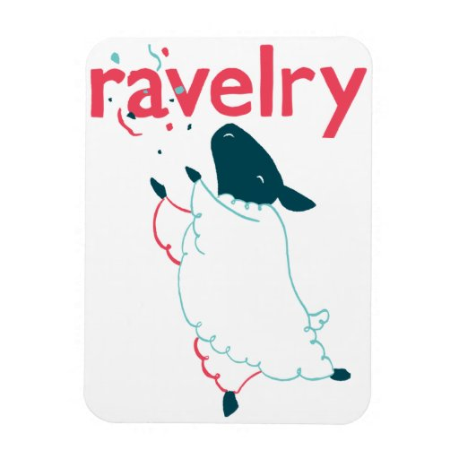 Imán de Ravelry de las ovejas
