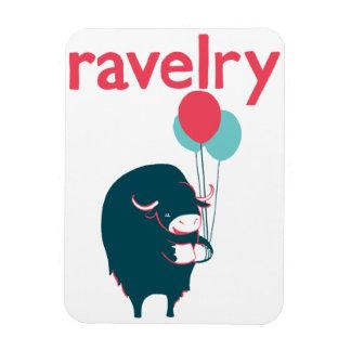 Imán de Ravelry del buey de almizcle