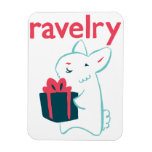 Imán de Ravelry del conejito del angora