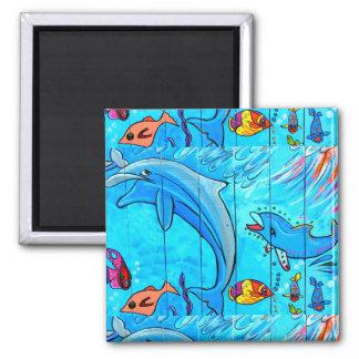 imán de risa subacuático de los delfínes