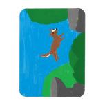 imán de salto del perro de la roca