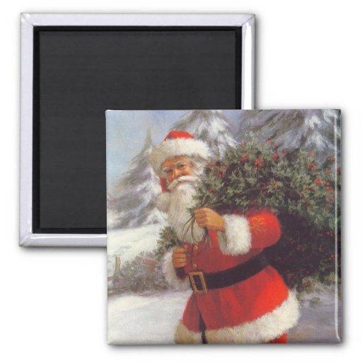 Imán de Santa del navidad - embutidora de la media