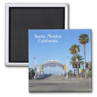 ¡Imán de Santa Mónica! Imán Cuadrado