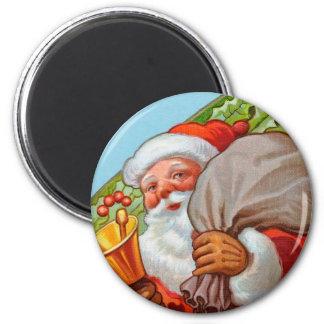 Imán de Santa para las vacaciones - redondas