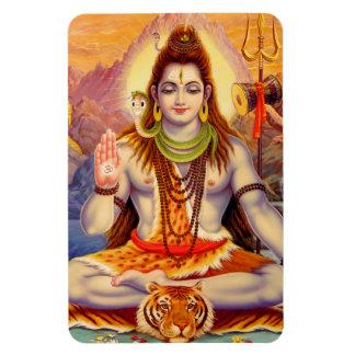 Imán de señor Shiva Meditating Premium Flexi