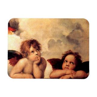 Imán de Sistine Madonna de las querubes de Raphael