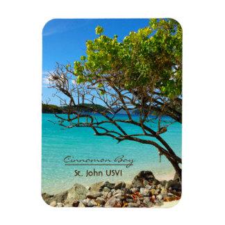 Imán de St. John USVI Flexi de la bahía del canela