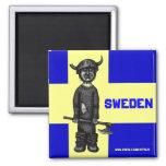 Imán de Suecia con vikingo divertido