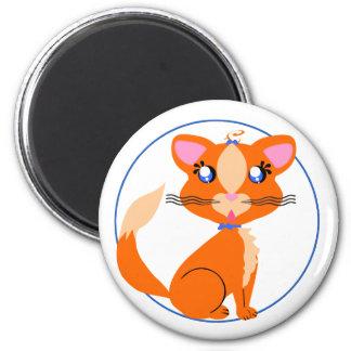 Imán de Toon del gatito del jengibre
