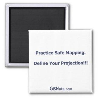 Imán de trazado seguro de la práctica