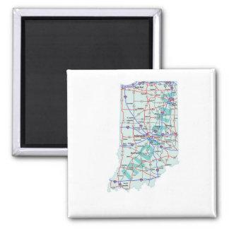 Imán de un estado a otro del mapa de Indiana