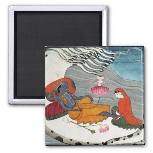 Imán de Vishnu y de Lakshmi - versión 1