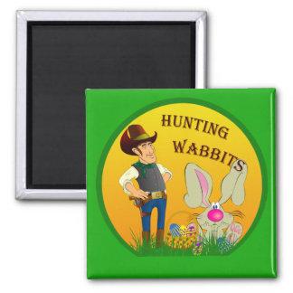 Imán de Wabbits Pascua de la caza