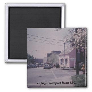 Imán de Westport del vintage - librería notable