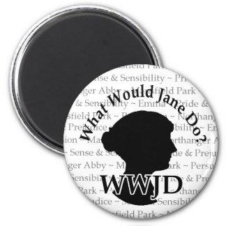 Imán de WWJD