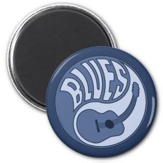 Imán de Yin de la guitarra de los azules