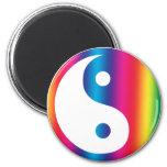 Imán de Yin Yang del arco iris