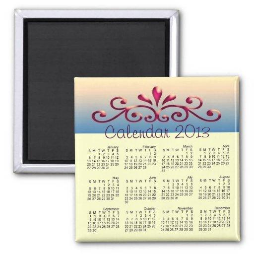 Imán decorativo 2013 del calendario