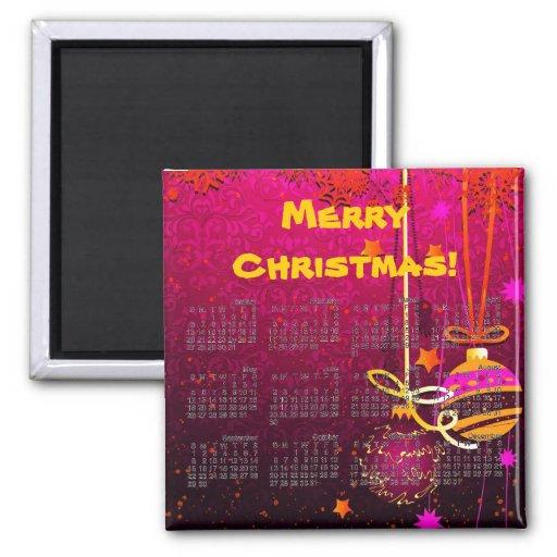 Imán decorativo 2013 del calendario del navidad