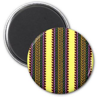 Imán decorativo de la raya - yelow/púrpura