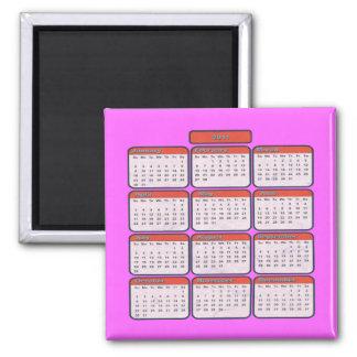 Imán decorativo del calendario 2011