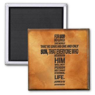 Imán del 3:16 de Juan
