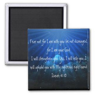 Imán del 41:10 de Isaías del verso de la biblia de