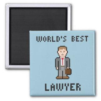 Imán del abogado del mundo del pixel el mejor