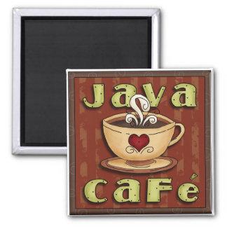 Imán del amante del café del café de Java