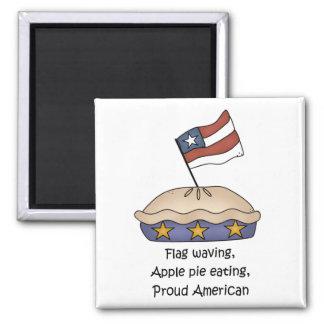 Imán del americano de la empanada de Apple