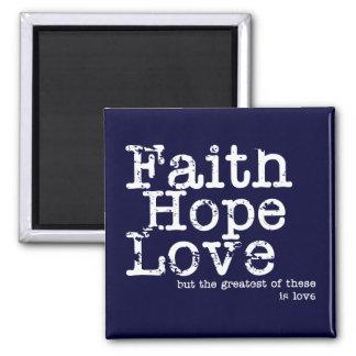 Imán del amor de la esperanza de la fe del vintage