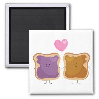 Imán del amor de la mantequilla y de la jalea de c