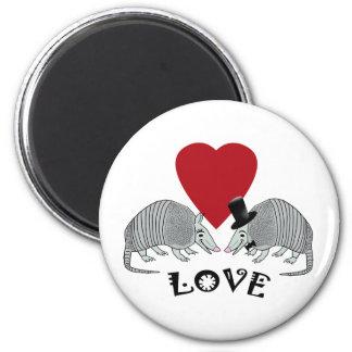 Imán del amor del armadillo