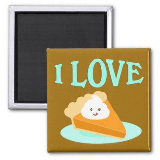 Imán del amor del pastel de calabaza