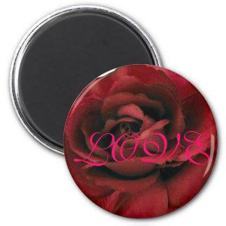 Imán del amor del rosa rojo