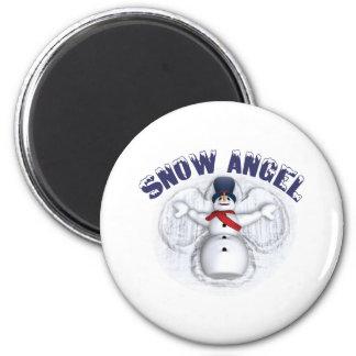Imán del ángel de la nieve