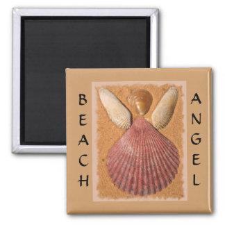 Imán del ángel de la playa imanes