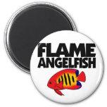 Imán del Angelfish de la llama