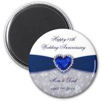 Imán del aniversario de boda del damasco 45.o