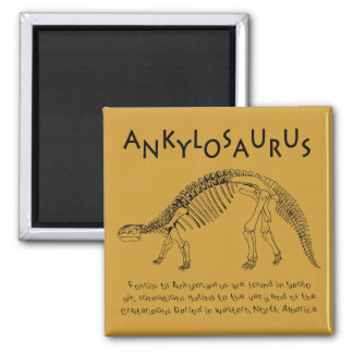 Imán del Ankylosaurus